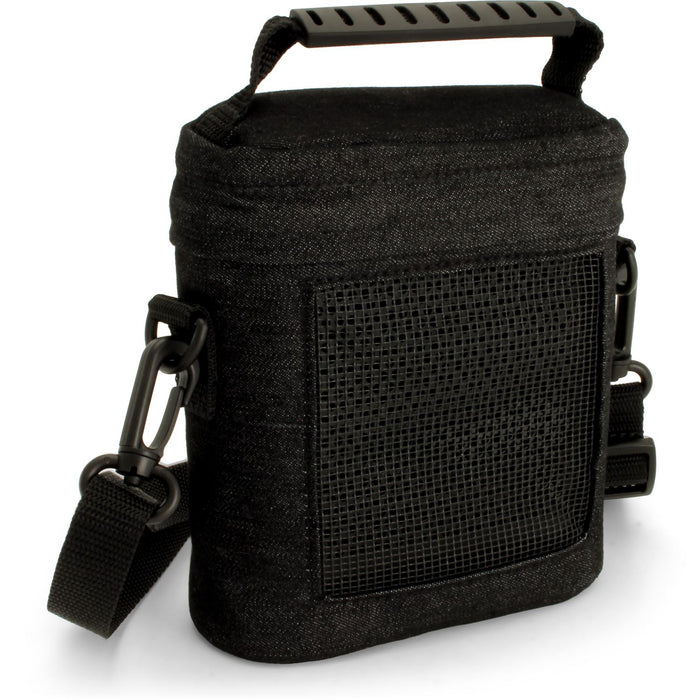 iGadgitz Black Fabric Travel Carrying Bag for Bose SoundLink Colour Bluetooth Speaker with Detachable Shoulder Strap