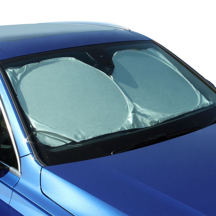CampTeck U6834 Foldable Reflective Car Windscreen Sunshade UV Rays Sun Shade Sun Protector Universal Fit (148cmx70cm)