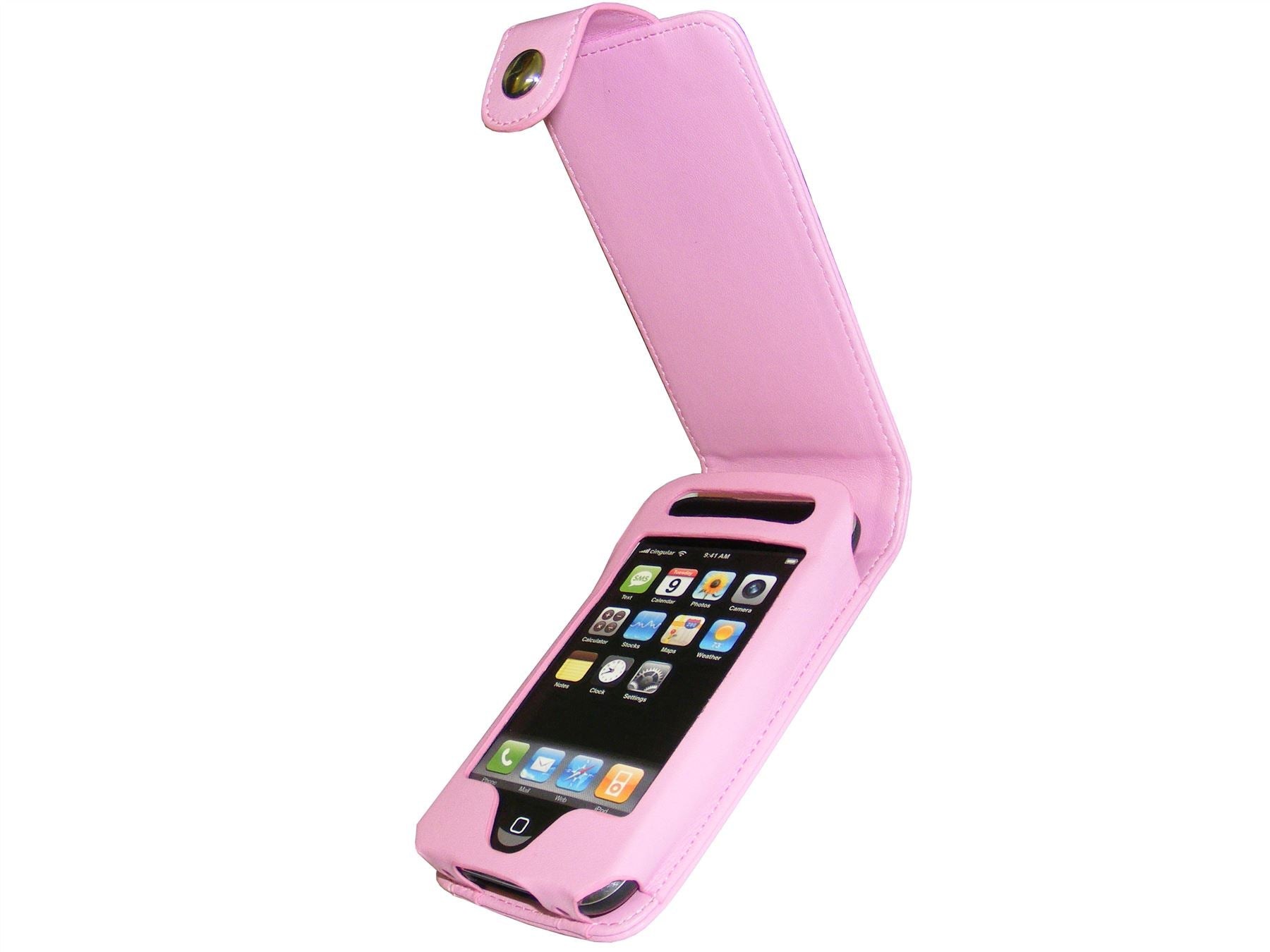 iGadgitz Pink PU Leather Case Cover for Apple iPhone 3G & New 3GS 8gb, 16gb & 32gb + Screen Protector