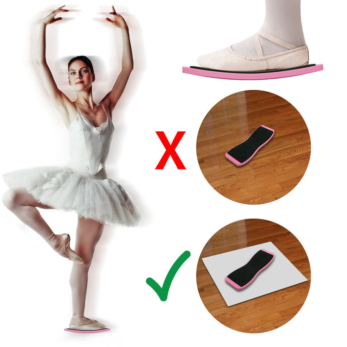 CampTeck Dance Turning Board Ballet Pirouette Spin Board for Ballet Dancers, Rotation Practice, Skating – Pink, 1 Piece