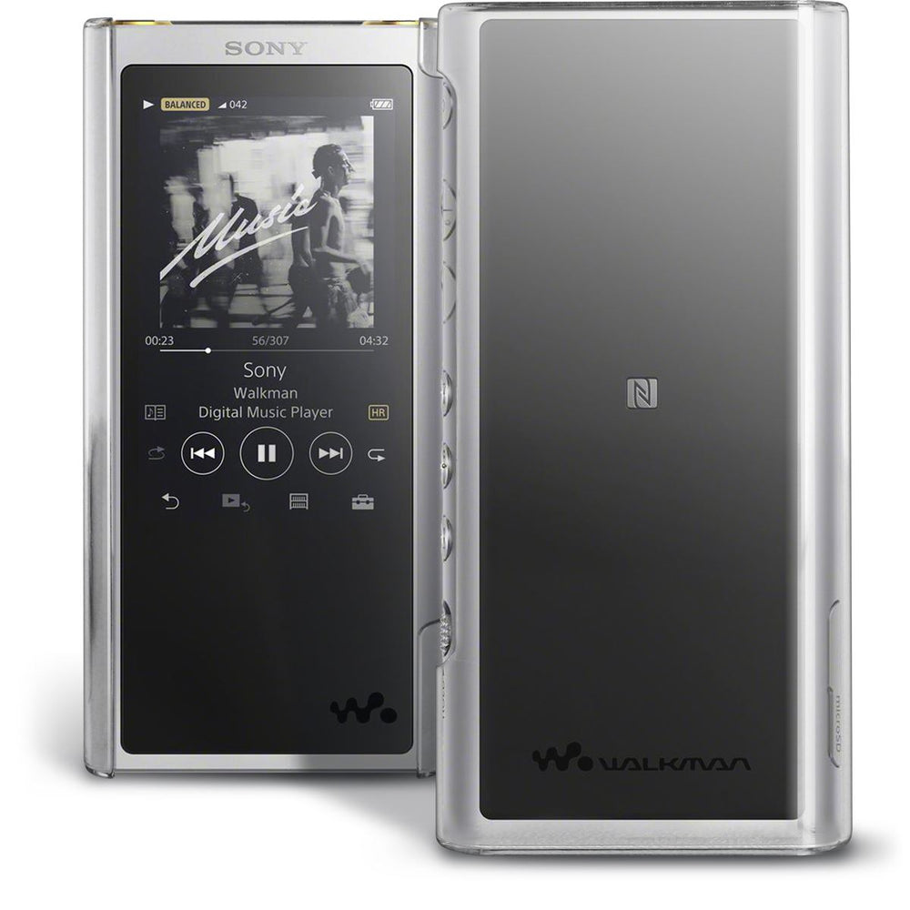 iGadgitz U6873 Clear PC Hard Back Case Cover for Sony Walkman NW-ZX300 MP3 Player Protective Shell + Screen Protector