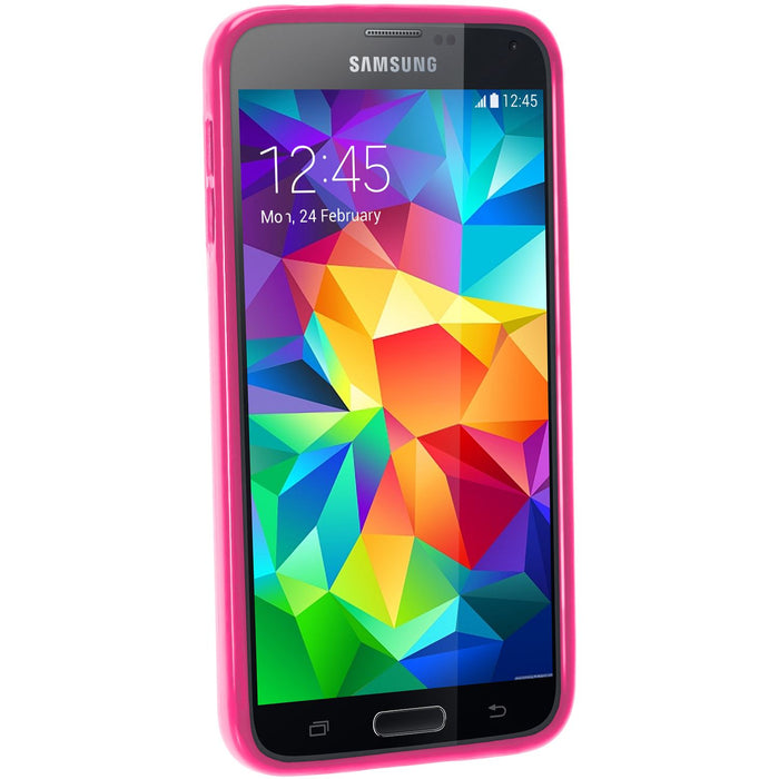 iGadgitz Glossy TPU Gel Case for Samsung Galaxy S5 SV MINI SM-G800F + Screen Protector (various colours)