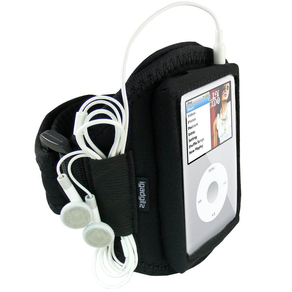 iGadgitz Water Resistant Neoprene Sports Gym Jogging Armband for Apple iPod Classic 80gb, 120gb & 160gb