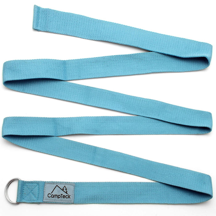 CampTeck D-Ring Polyester Yoga Strap – Adjustable Stretching Yoga Belt