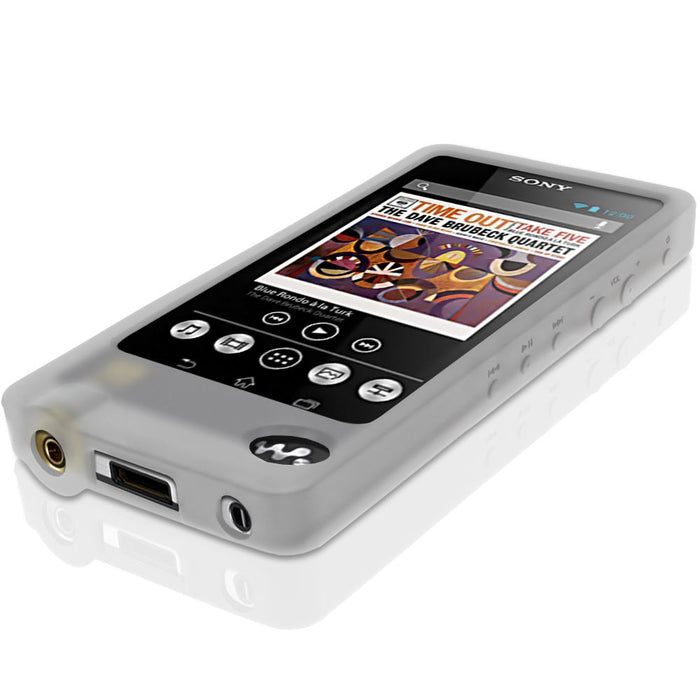 iGadgitz U3025 - Clear Rubber Silicone Gel Case for Sony Walkman NWZ-ZX1  Screen Protector