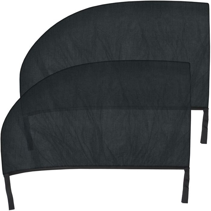 Polyester Mesh Car Window Shade Car Sun Shade (2pcs) For Left & Right Rear Side Doors - Black