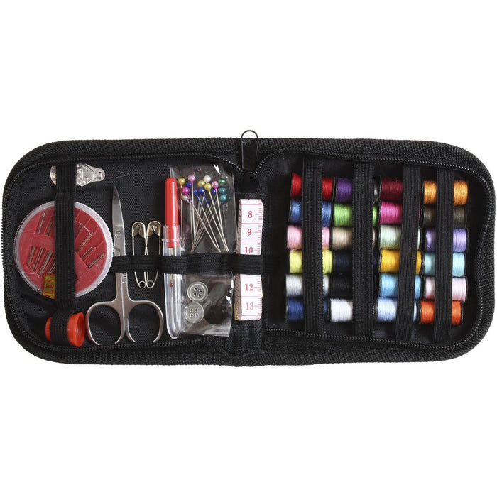 iGadgitz Home U7003 - 66 Piece Mini Sewing Kit Accessories Bundle Portable Hand Sewing Kit with Case for Adults, Travel, Home and Emergency Use
