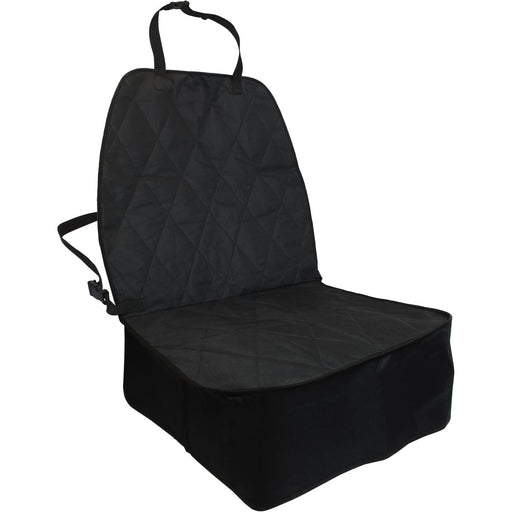 iGadgitz Xtra U6968 Water Resistant Dog Front Seat Cover Non-Slip Pet Front Car Seat Cover for Cars, Vans, SUVs - Black