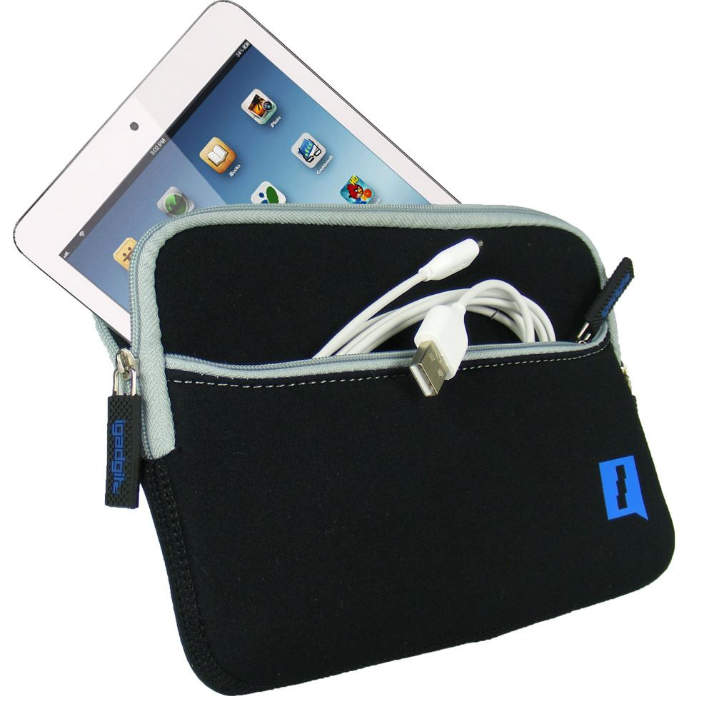 iGadgitz Black Neoprene Case with Pocket for Apple iPad Mini 1st Gen & 2nd Gen with Retina Display (launched Oct 13)