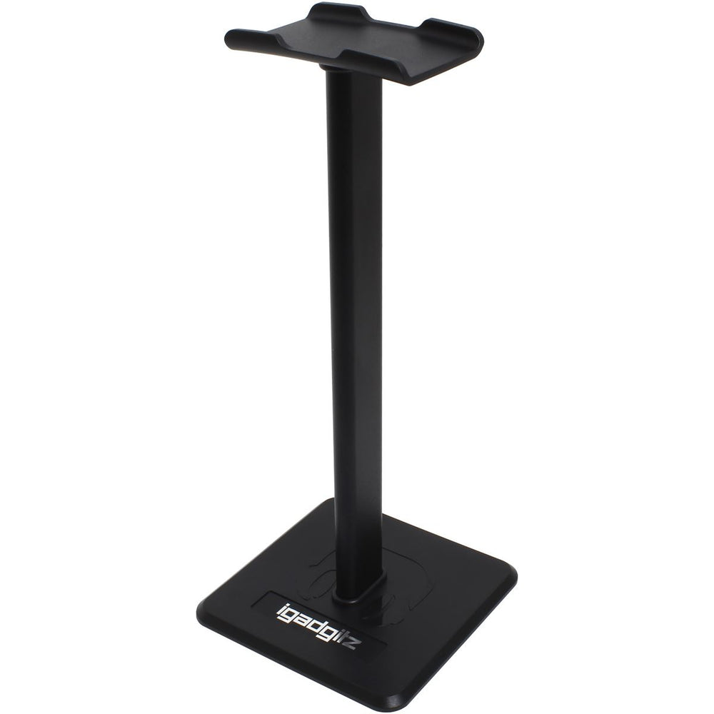 iGadgitz U6978 - Universal Headphone Stand Aluminium Alloy Headphone Holder Stand - Home, Office, Games Rooms, Bedroom & Studio - Black