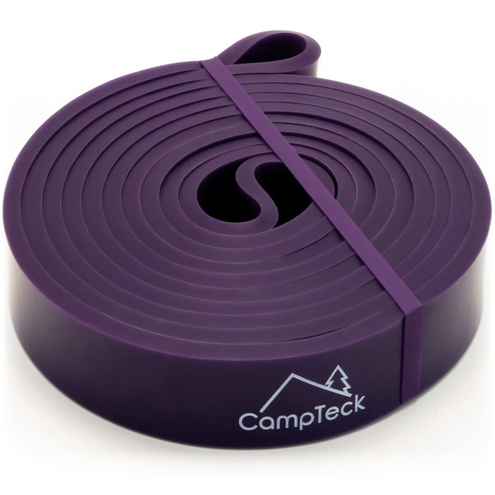 CampTeck Resistance Stretching Band for Gym, Ballet, Yoga, Aerobics, Workout, Pilates, Pull Up, Powerlifting – Purple