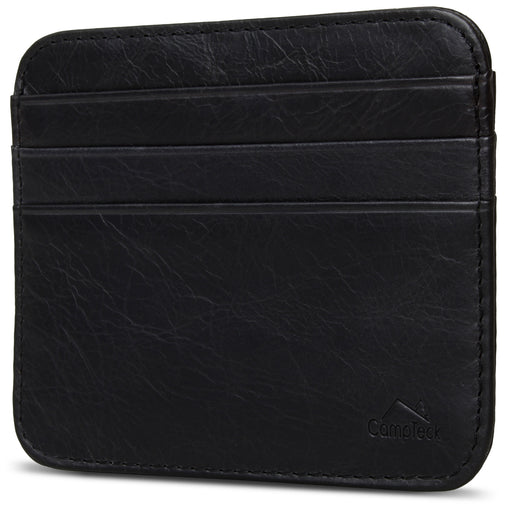 Leather RFID Card Holder Front Pocket Slim Wallet Credit Card Holder – Black