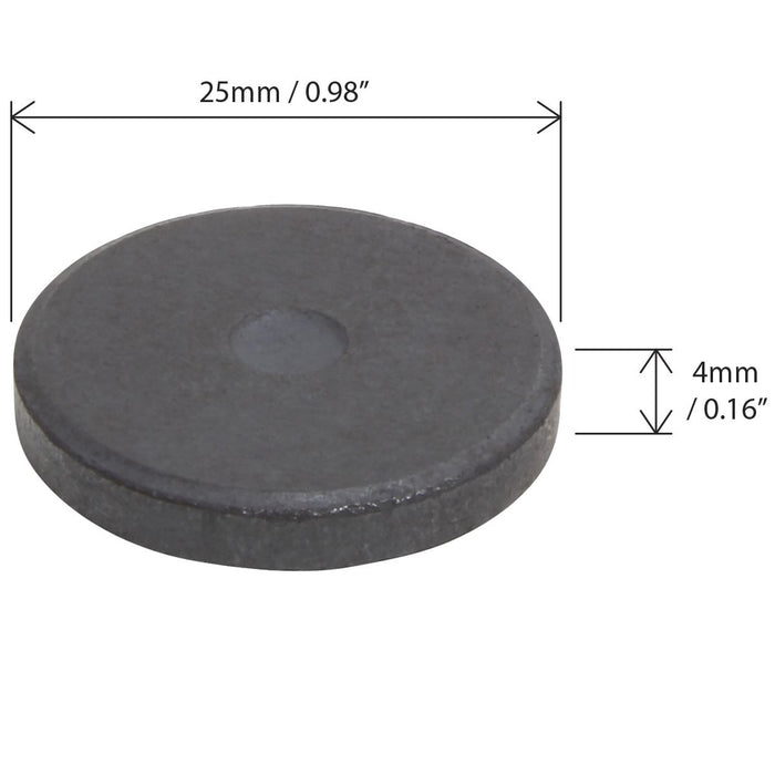 iGadgitz Home U6913 - 50 x Ferrite Magnets Disc 25mm Round Ceramic Magnets for Fridge, Craft, Kitchen, Office, DIY, Art & Craft and Much More - Black