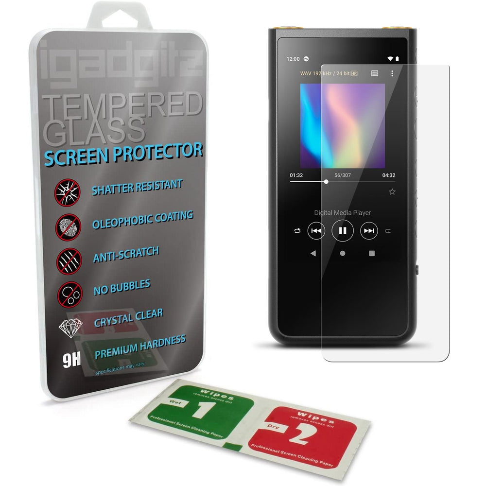 iGadgitz U7180 Tempered Screen Protector Compatible with Sony Walkman NW-ZX500 - Transparent