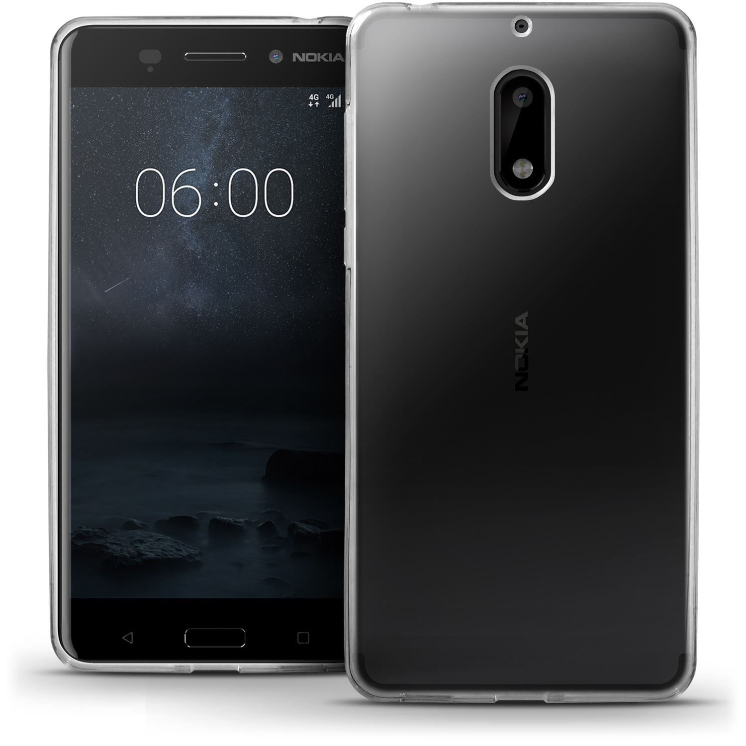 iGadgitz Glossy TPU Gel Skin Case Cover for Nokia 6 (2017) + Screen Protector
