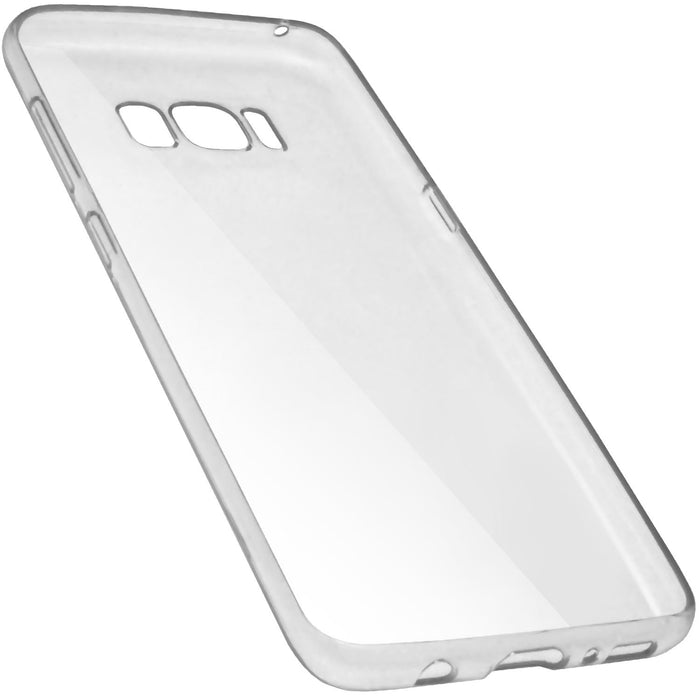 iGadgitz Transparent Clear Glossy TPU Gel Skin Case Cover for Samsung Galaxy S8 SM-G950 + Screen Protector