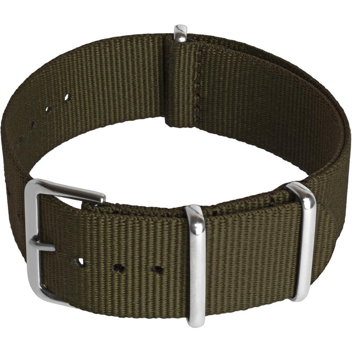 CampTeck Nylon Replacement Military NATO Watch Strap (widths 18|20|22|24mm) with Stainless Steel Pin Buckle for Spring Bar Watches
