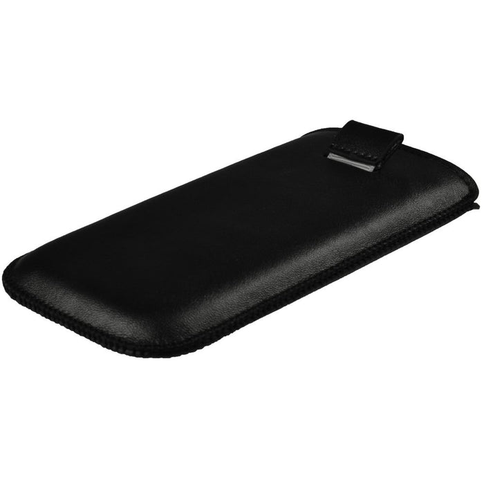 iGadgitz Black Leather Pouch Case Cover for Samsung Galaxy S3 III i9300 Android Smartphone Mobile Phone