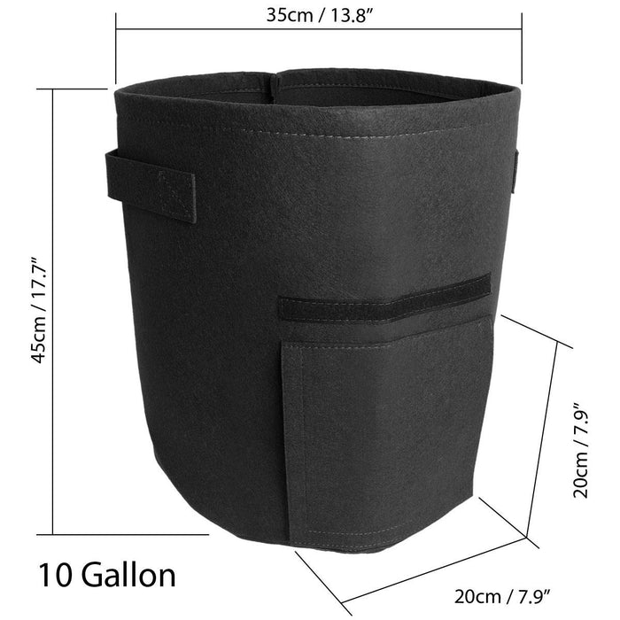 iGadgitz Home Fabric Potato Grow Bag (7/10 Gallon), Planting Bags, Fabric Pots with Access Flap & Handles