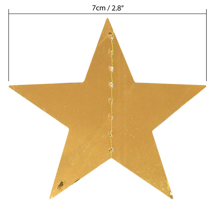 iGadgitz Home Paper Star Garland Decoration, Star Bunting, Star Banner, Star Pennant, Star Hanging Decoration
