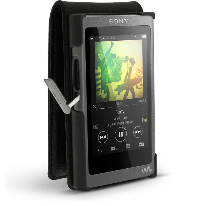 iGadgitz Leather Flip Case Cover for Sony Walkman NW-A35 NW-A40 NW-A45 with Magnetic Closure + Screen Protector