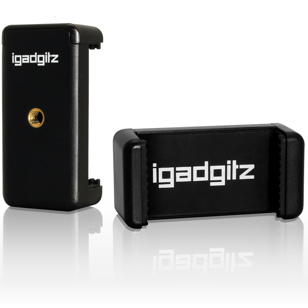 iGadgitz Universal Smartphone Holder Mount Bracket Adapter for Tripods and Selfie Sticks