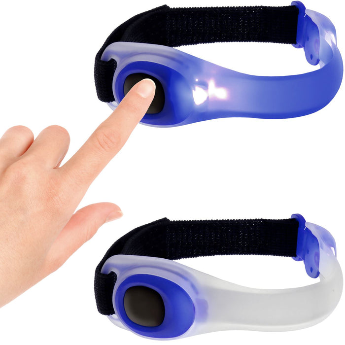 iGadgitz Xtra Lumin Safe Reflective Waterproof Silicone Armband LED Flashing Light for Running, Cycling, Walking & More
