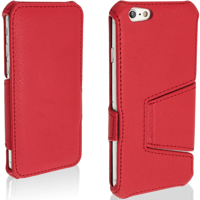 "iGadgitz Premium PU Leather Case Cover for Apple iPhone 6 & 6S 4.7"" with Viewing stand + Screen Protector"