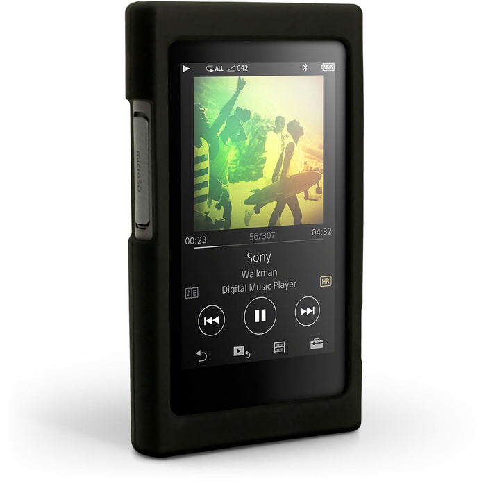 iGadgitz Silicone Skin Case Cover for Sony Walkman NW-A35 NW-A40 NW-A45 + Screen Protector