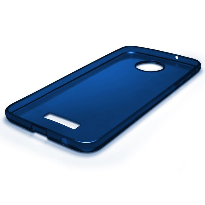 iGadgitz Glossy TPU Gel Skin Case Cover for Motorola Moto Z Play + Screen Protector