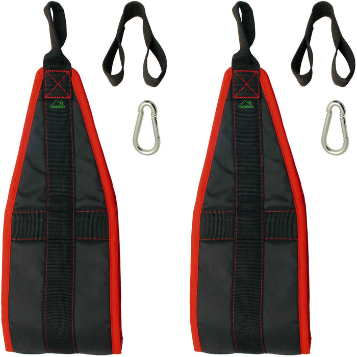CampTeck Ab Straps Padded Hanging Ab Slings with Carabiner for Abdominal Training, Abs Crunch, Leg Raises, Pull Up