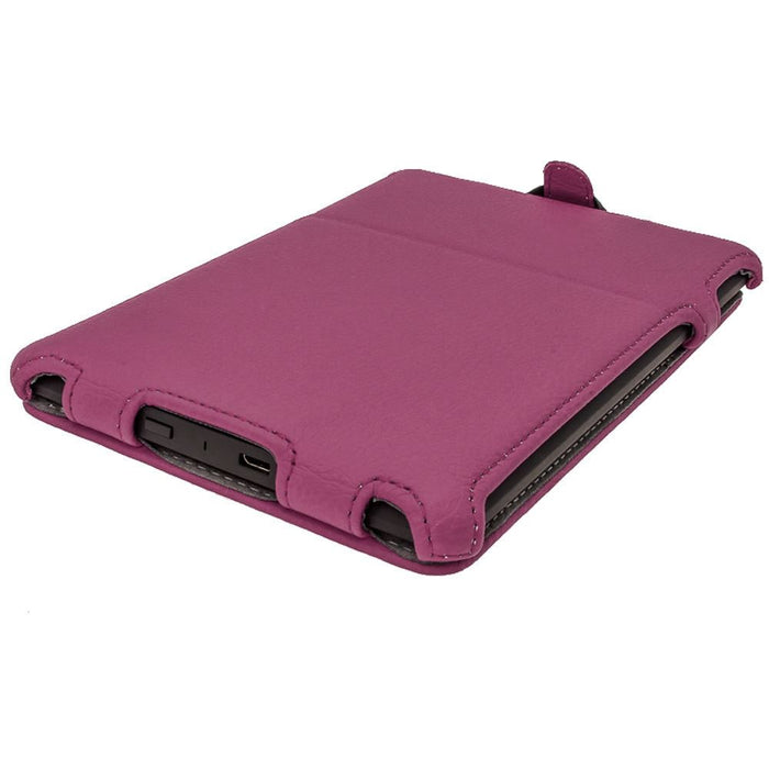 iGadgitz Purple PU 'Heat Molded' Leather Case Cover forAmazon Kindle Paperwhite 2015 2014 2013 2012 + Sleep Wake