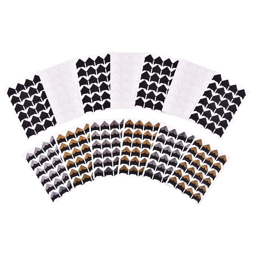 iGadgitz Home Self Adhesive Photo Corners in Various Colours - Black, White, Gold or Silver - Photo Mounting Corners, Picture Corners Stickers