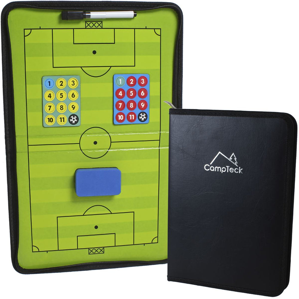 CampTeck U6942 Football Tactics Board Magnetic Football Coaching Tactics Board with Marker Pen & Eraser - Black