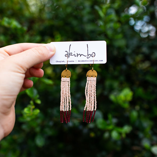 Blush & Cabernet Akimbo Collection Danglers