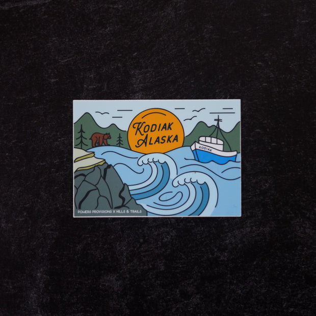 Kodiak Sticker | Hills and Trails
