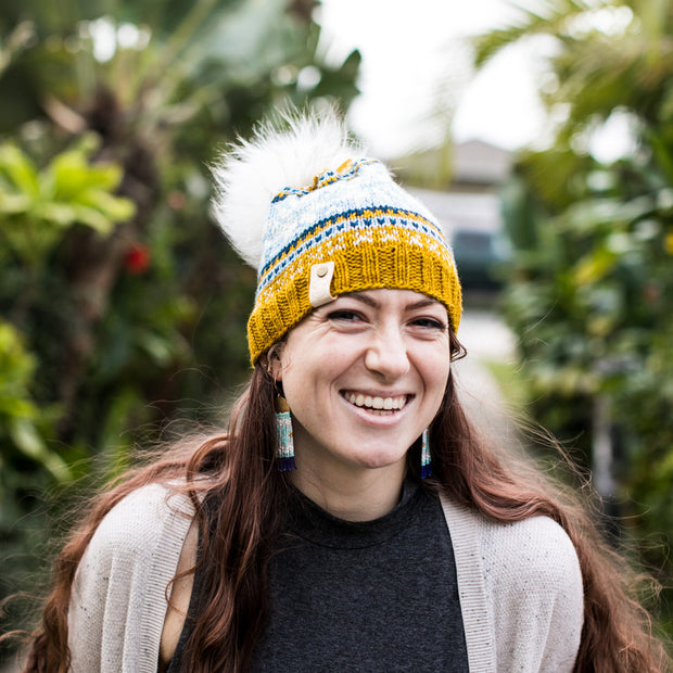 Akimbo Collaboration Mustard Fair Isle Hat