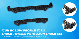 icon rc low profile tc7.2 shock towers with axon shock set