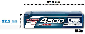 HV LCG MODIFIED SHORTY GRAPHENE-3 - 4500mAh - 7.6V LiPo - 120C/60C