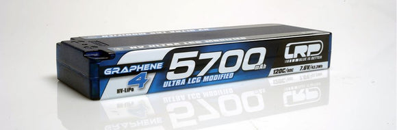 LRP  HV LCG MODIFIED GRAPHENE 4 - 5700mAh - 7.6V LiPo - 120C/60C