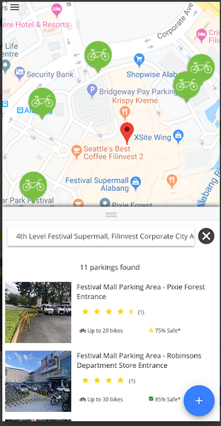 Bisikleta Spaces Metro Manila Bike Parking Map App