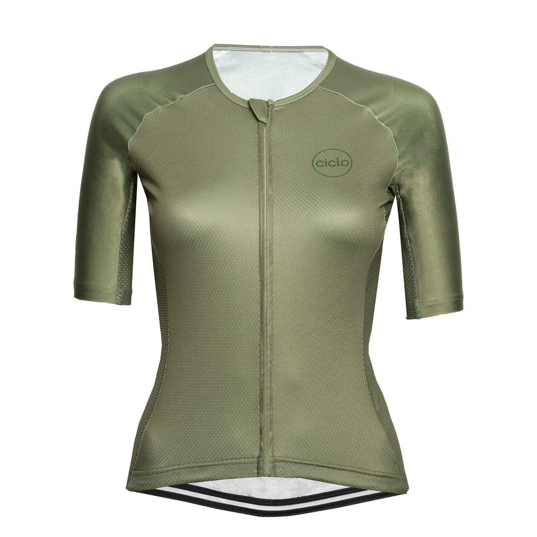 Women's Olive Endurance Jersey