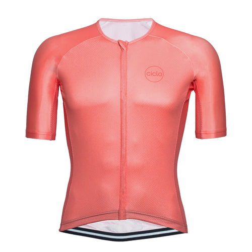 Ciclo Men's Coral AeroBasics Cycling Jersey