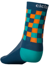Load image into Gallery viewer, Ciclo Checkmate Performance Cycling Socks