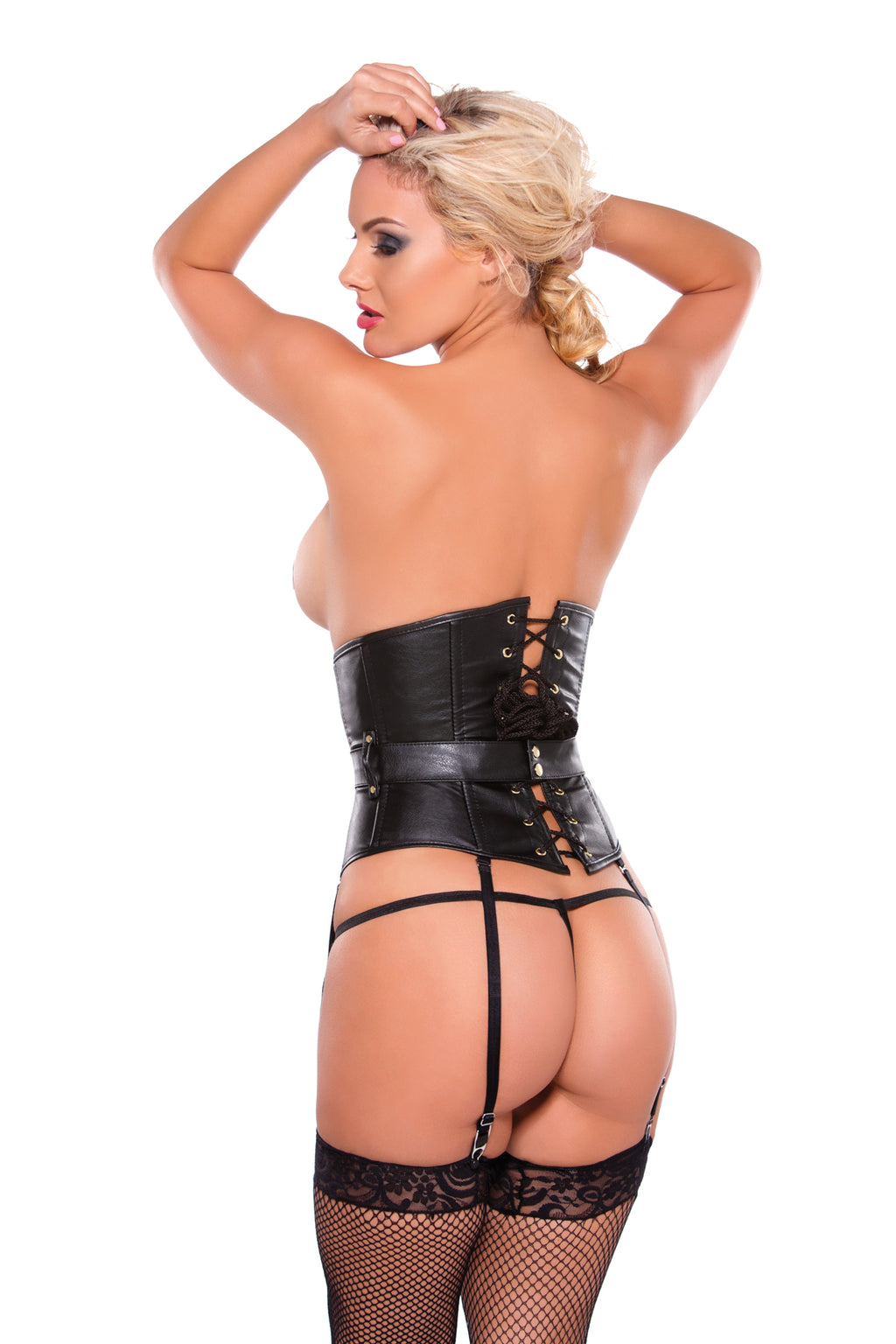 Faux Leather Under Bust Corset