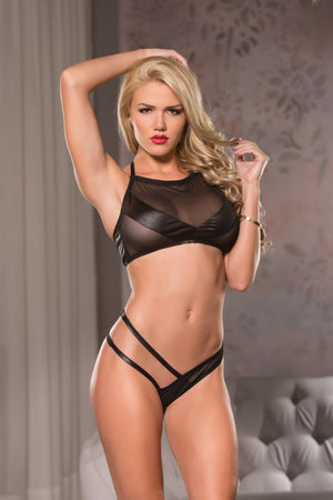 Mesh Top & G-String Set