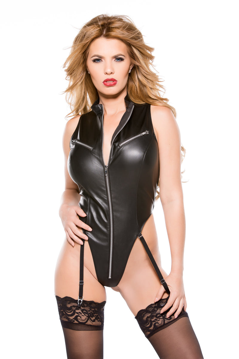 Faux Leather Teddy