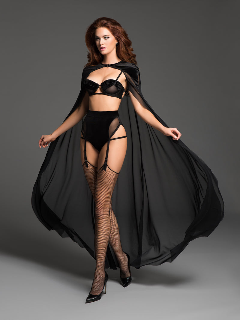 the love affair balconette bra and panty with garters