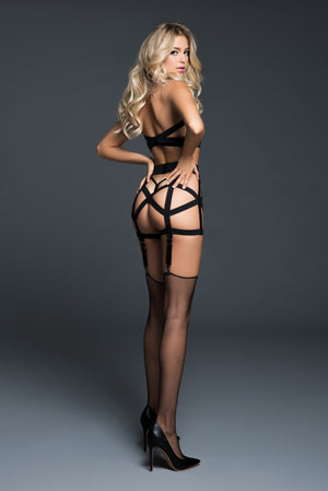 deliciously playful corselette with garters