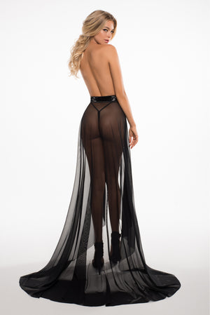 wrapped around you sheer skirt